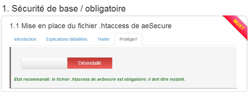 configuration aesecure step3