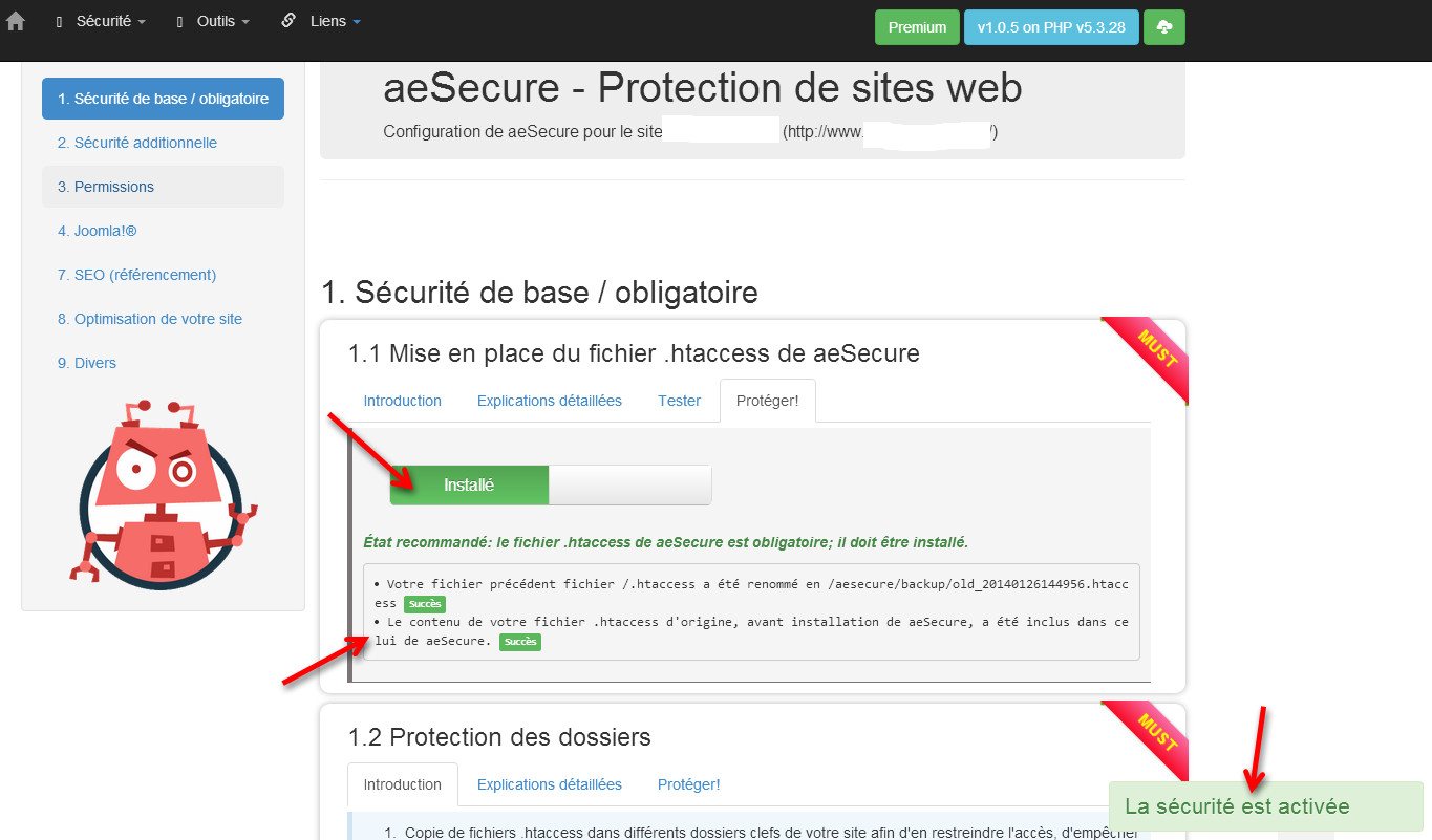 configuration aesecure step4
