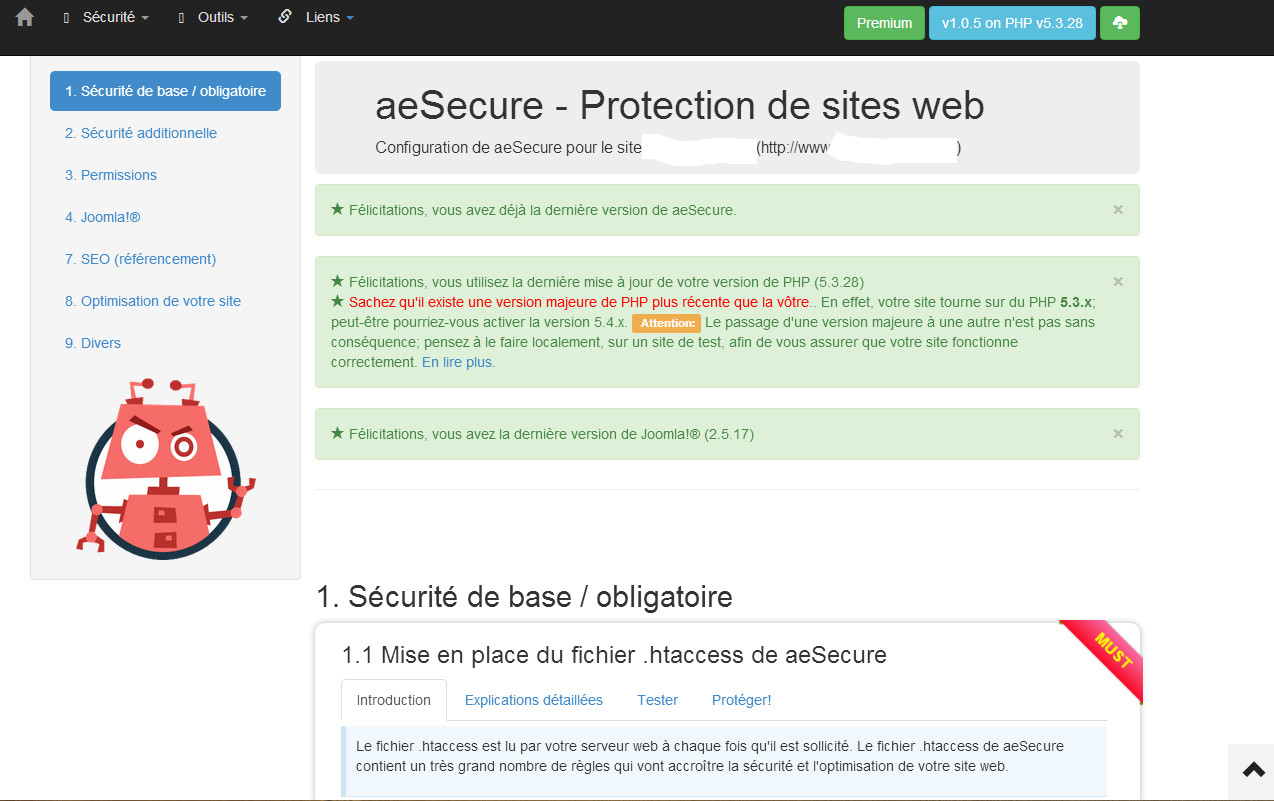 configuration aesecure step1